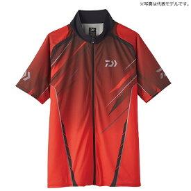 ダイワ(Daiwa) DE-76020 ハーフスリーブ ドライシャツ 2XL レッド / ウェア 半袖 ジップシャツ