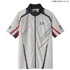 ダイワ(Daiwa) DE-76020 ハーフスリーブ ドライシャツ M ホワイト / ウェア 半袖 ジップシャツ 【お買い物マラソン 釣具のFTO/フィッシング タックル オンライン】
