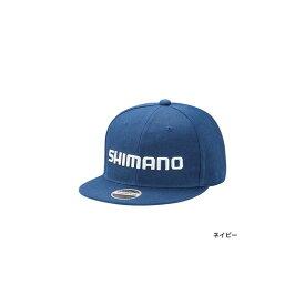 シマノ(Shimano) CA-066T ベーシックフラットキャップ フリー ネイビー / 帽子 日よけ 【釣具 釣り具】