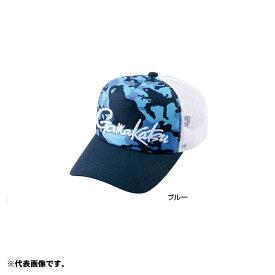 がまかつ GM-9882 ハーフメッシュキャップ(カエル) L ブルー 【釣具 釣り具】