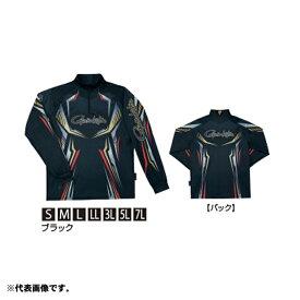 がまかつ GM-3616 2WAYプリントジップシャツ(長袖) M ブラック 【釣具 釣り具】
