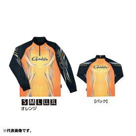 がまかつ GM-3616 2WAYプリントジップシャツ(長袖) LL オレンジ 【釣具 釣り具 お買い物マラソン】
