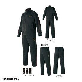 がまかつ GM-3623 ジャージスーツ M ブラック/レッド【在庫限り特価】