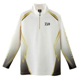 ダイワ(Daiwa) DE-31009T トーナメント ブレスマジック ハーフジップシャツ ホワイト 2XL / 防寒ウェア 防寒インナー 吸湿発熱 【釣具 釣り具】