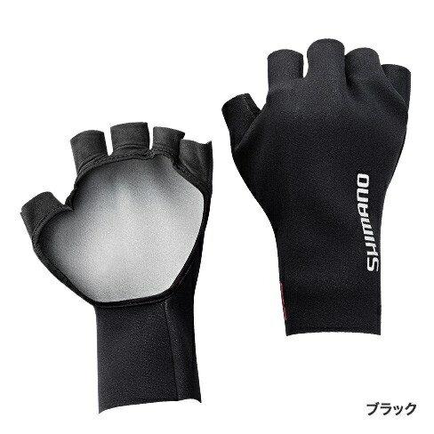シマノ クロロプレンEXSパームレスグローブ ブラック XL
