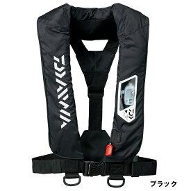【お買い物マラソン】 ダイワDF-2007 ウォッシャブルライフジャケット ブラック フリー / 肩掛けタイプ 手動・自動膨脹式【限定特価】