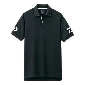 ダイワ(Daiwa) DE-7906 半袖ポロシャツ ブラック×ホワイト M /ウェア ポロシャツ 半袖