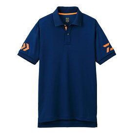 【お買い物マラソン】 ダイワ(Daiwa) DE-7906 半袖ポロシャツ ネイビー×チェリートマト M /ウェア