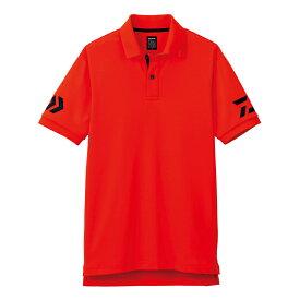 【お買い物マラソン】 ダイワ(Daiwa) DE-7906 半袖ポロシャツ チェリートマト×ネイビー M /ウェア