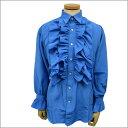 【メンズ フリルシャツ】長袖シャツ パーティー ステージ ダンス フリル ブラウス 青 ブルー【あす楽対応】【7000円以上で送料無料(税別)】
