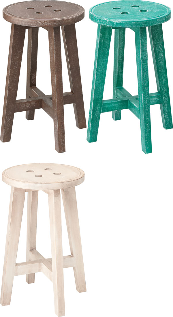 木製丸スツール 幅28cm 高さ45cm 椅子 おしゃれ キッチン カウンター レトロ ブラウン ホワイト グリーン 丸椅子 ナチュラル カントリー 北欧 カフェ