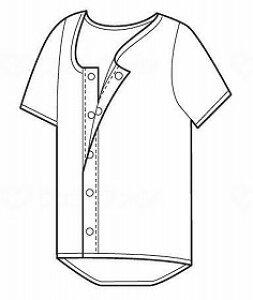 ホック式ワンタッチ肌着紳士用(半袖)/片倉工業【RCP】 衣類 肌着・シャツ 前開きシャツ 介護用品