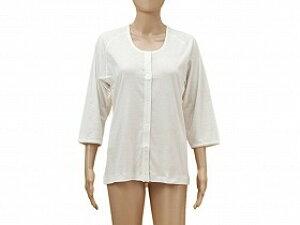 TioTio前開き7分袖(ラグラン袖)婦人用/神戸生絲【RCP】 衣類 肌着・シャツ 前開きシャツその他 介護用品