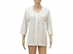 ひば前開き7分袖(ラグラン袖)婦人用/神戸生絲【RCP】衣類 肌着・シャツ 前開きシャツその他