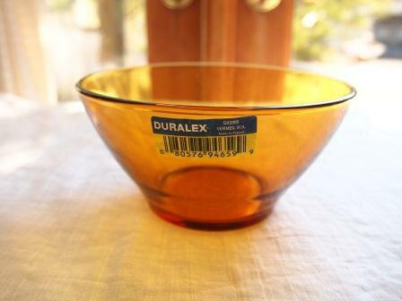 デュラレックス  アンバーカラー ガラスボウル フランス製【SALE/fucca限定価格】