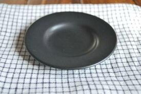 人気シリーズ 黒マット 丸小皿 美濃焼 黒い食器【SALE/fuccaお値打ち価格】