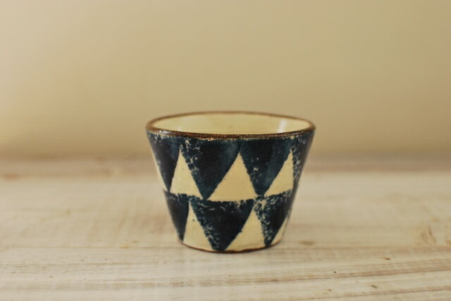 和食器 古染付 土物 ソバチョコ 青三角 美濃焼 フリーカップ デザートカップ【SALE/fucca限定価格 】
