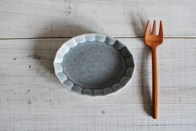 洋皿しのぎ オーバルしのぎプレート 12センチ 小 グレー 美濃焼 人気洋食器 【今月のSALE 人気食器 美濃焼 インスタグラム】