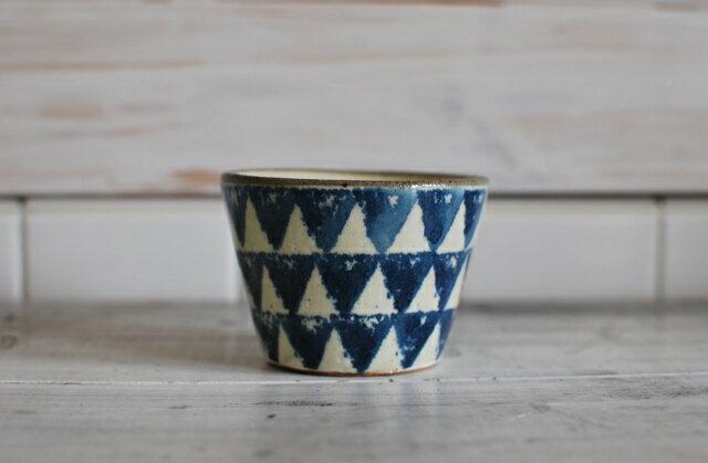 和食器 古染付 土物 ソバチョコ ミニ青三角 美濃焼 フリーカップ デザートカップ【SALE/fucca限定価格 】