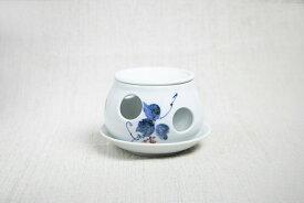 茶香炉 陶器 有田焼 くずの葉 アロマ アロマポット おすすめ 香炉 癒し リラックス 日本茶 茶葉 香水 インテリア 雑貨 消臭 おしゃれ お歳暮