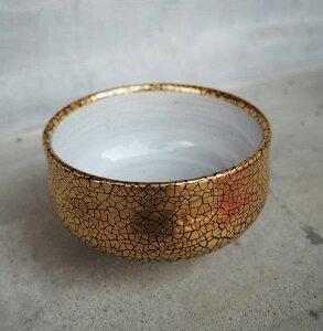 抹茶碗 錦金彩 黒 高級 有田焼 直径12.5cm