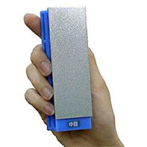 ツボ万 ダイヤモンド電着砥石 アトマ 1/4 台付き 甲丸型 中目 ATM1/4F-4D 37.5×117×32mm 汎用 金型 金属 包丁研磨 といし