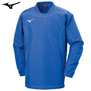 ミズノ(MIZUNO) タフブレーカーシャツ サーフブルー S