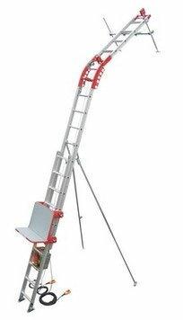 【ユニパー】 荷揚げ機パワーコメットUP-103P-H-2F(標準レールセット2階用・ウインチなし)スライドレール式瓦揚げ機※引っ掛け式ウインチ専用(下置き式非対応)