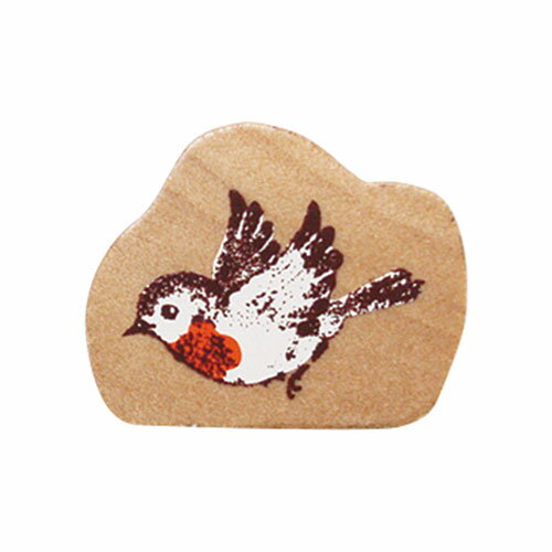 【ポイント5倍】こどものかお 森のスタンプ 羽ばたく小鳥 B0941-007 #202#