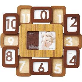 ベビーギフト LADONNA(ラドンナ) ベビーフレーム 12ヶ月フレーム DF54-130 ベビーギフト フォトフレーム 写真立て 複数枚 出産祝い 誕生記念 七五三 記念 写真【メーカー取寄】 #300#