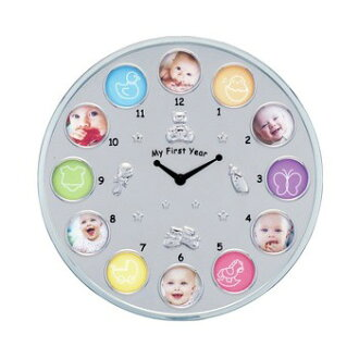 LADONNA ( LaDonna ) / clock with 12 months baby frame /MB21-130-C / baby / photo frame / baby / birth anniversary