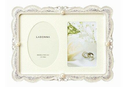 【メーカー取寄】LADONNA(ラドンナ) / ブライダルフレーム / MJ45-2L-WH / ホワイト / ウェディングギフト / フォトフレーム / 写真立て / 結婚祝い / 結婚記念【ギフト包装、のし対応不可】七五三 記念 写真 #300#