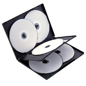 Digio2 【DVD-A007-3BK】DVDトールケース 5枚収納タイプ×3個セット ブラック