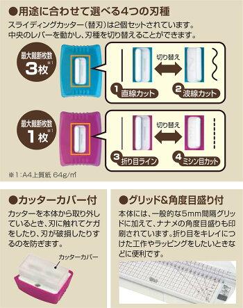 ナカバヤシデコルーレ写真文具シリーズスライドカッターPNSC-NA4