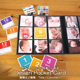 【WEB限定品】アルバム マンスリー デザインポケットカード ましかく 12枚 IT-DPC-M #205#
