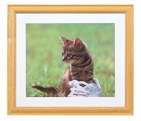 ナカバヤシ 木製写真額(角型) フォトフレーム2L判 フ-M95-10-N 木地 フォトフレーム 写真 壁掛け 集合写真 #300#