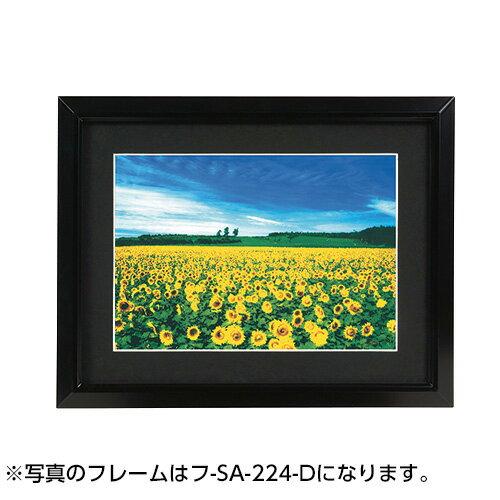 【ポイント5倍】ナカバヤシ 軽量アルミ製 写真額(丸型) 2L判(ブラック) フ-SA-220-D 写真 フォトフレーム 額縁 集合写真 #300#