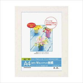 フォトフレーム ナカバヤシ Digioカラー Vカットマット台紙 (ペーパー フォトフレーム) A4サイズ ホワイト DGVM-A4-W 七五三 記念 写真 #300#