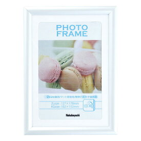 【ママ割エントリーでP7倍】ナカバヤシ 樹脂製(PVC) フォトフレーム 写真立て 2L判 KG判 ホワイト フ-TPS-301-W七五三 記念 集合写真 #301#