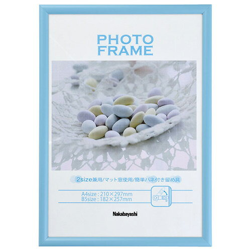 【ポイント10倍】ナカバヤシ 樹脂製(PVC) フォトフレーム 写真立て / A4判 / B5判 / ブルー / 水色 / フ-TPS-401-B七五三 記念 写真 #301#