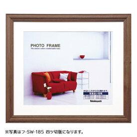 ナカバヤシ 木製写真額(ブラウン) 六ツ切判 六つ切り 6切り フ-SW-182-BR フォトフレーム 写真 壁掛け #300#