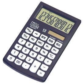 ナカバヤシ 電卓 モノカラー ブラック ECH-2101T-D 激安