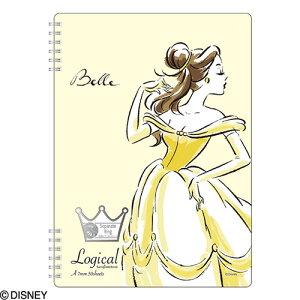 ナカバヤシ ディズニーキャラクター スイング・ロジカルWリングノート ディズニープリンセス 美女と野獣 ベル A5 A罫 NW-A509-Y 【Disneyzone】