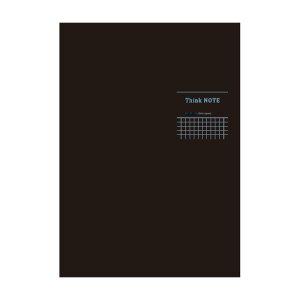 ナカバヤシ ロジカル・シンクノート 糸綴じノート・B5 方眼5mm ブラック ブルー罫 ノ-B522S-DB