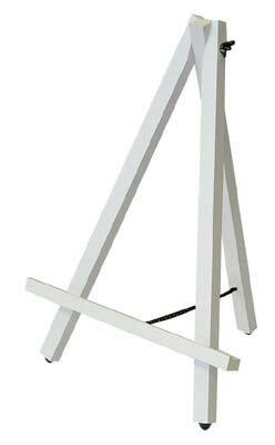 【ポイント10倍】ナカバヤシ 木製イーゼル Sサイズ EZ-001W ホワイト