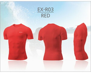 EXIOエクシオ接触冷感高機能コンプレッションウェアアンダーウェアラウンドネック半袖ネコポス選択送料無料