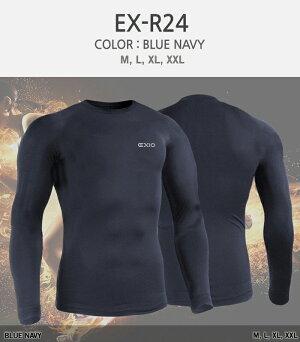 EXIOエクシオコンプレッションウェアプレミアム起毛防寒ラウンドネックインナーシャツ