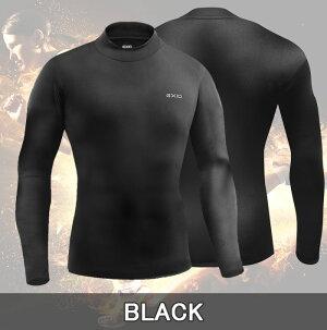 EXIOエクシオ防寒コンプレッションタイツハイネック長袖プレミアム裏起毛全3色M-XXL