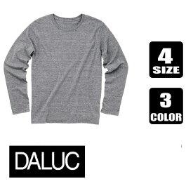 在庫処分大特価【DALUC】ダルクTri Mix Basic Long Sleeveトライミックス ベーシックロングスリーブ Tシャツ(薄手4.3OZ)
