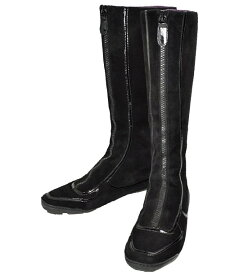 01869af74da6 中古 COLE HAAN コールハーン レディース ブーツ 黒 7.5 24.5cm  中古
